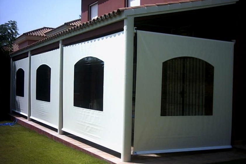 Toldos verticales toldos valencia for Material para toldos correderos