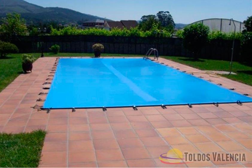 Lona cubre piscina toldos valencia for Toldos para piscinas